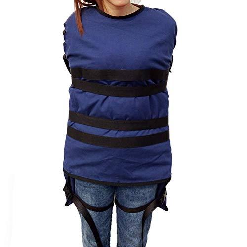 GFYWZ Fixierte Kleidung Für Patienten - Psychiatrische Patienten/Anti-verstümmelung - Feste Zwangsbedeckung Für Spirituellen Wahnsinn Patientenzerstörung Drogenabhängigkeit