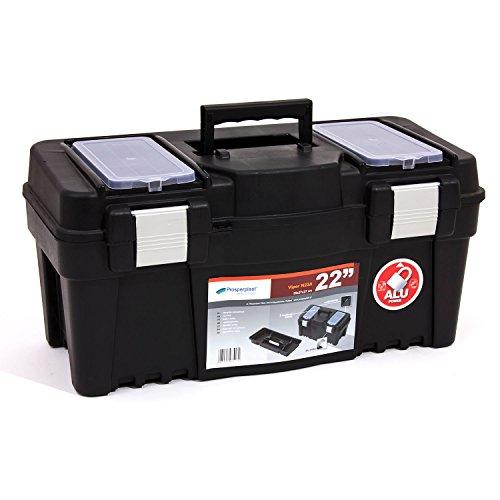 """Werkzeugkoffer Werkzeug Werkzeugbox Heimwerker Metall Viper 22"""" 550x267x270 mm"""