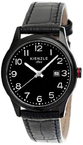 Kienzle K3043043131-00377 - Reloj analógico de Cuarzo para Hombre con Correa de Piel, Color Negro