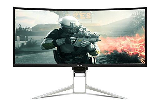 Acer Predator XR342CKP 86 cm (34 Zoll Ultra Wide QHD) Curved Monitor (2x HDMI, USB Type-C, DisplayPort, 4ms Reaktionszeit, Auflösung 3,440 x 1,440, Schwenkbar, Höhenverstellbar) silber