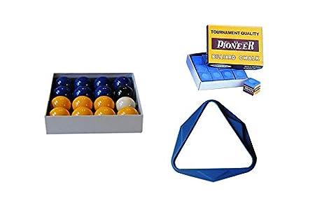 SUPREME - Lot Bleu comprenant : billes, triangle et craies