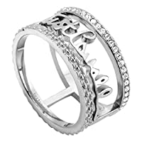 Just Cavalli Women's Stainless Steel Cerchi Ring - 7 - 17.5 mm, JCRG00310107