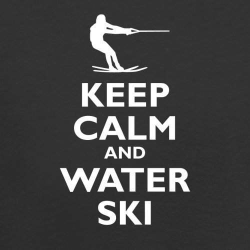 Keep Calm and Water Ski - Herren T-Shirt - 13 Farben Schwarz