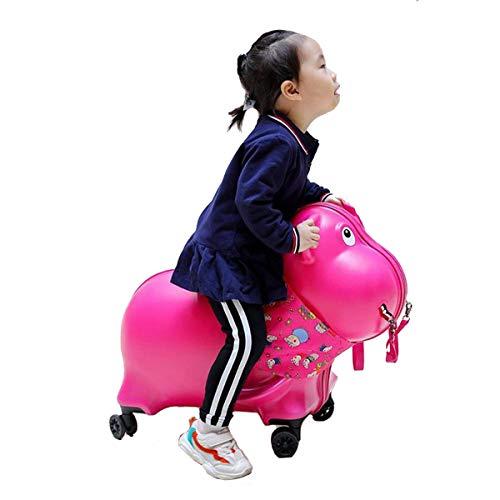 ·kinderkoffer/handgepäck Für Kinder/kindergepäck Können Reiten Linie(Schwein) Student Und Junge Mädchen Cartoon Koffer/Geeignet Für 3-12 Jahre Alt- 44cm * 28cm * 52cm Pink-44 * 52 * 28cm -