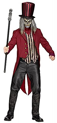 Freak Show Ring Master Herren-Kostüm Gr. M/L Gruseliger Zirkusdirektor Halloween