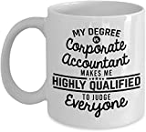 VTYOSQ Corporate Accountant Gift Mug Gag Funny Mugs for Accountants Accounting Clerk Auditor Financial Officer Financial Payroll Analyst Auditor Tax Specia