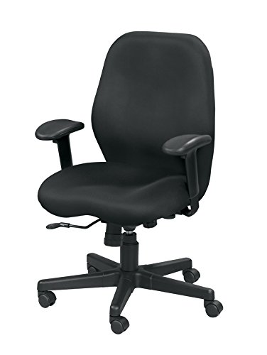 Eurotech Platz Aviator mm5506Schwenkarm schwenkbar neigbar Netzstoff-Stuhl, schwarz