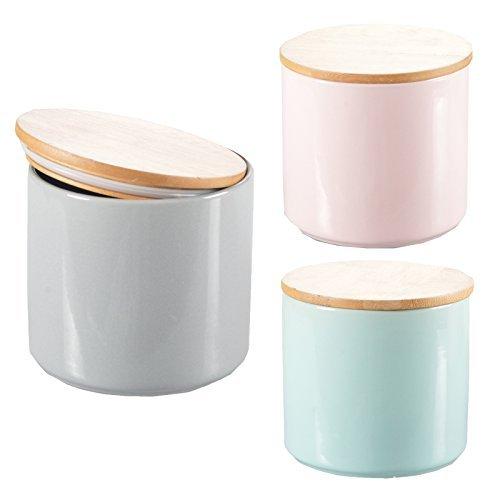 Aufbewahrungsdose JOLLY Porzellan Bambus Deckel Keramik Dose Aufbewahrung UNI