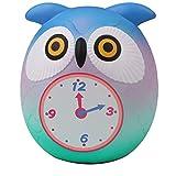 ALIKEEY Cute Owl Reloj Lento Aumento Compresión Descompresión Crema Perfumada Juguetes Utensilios Dinosaurios Avion Toy Story Patrulla Canina Cesto Parking Caja