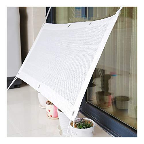 CHAOXIANG Sichtschutznetz Sonnensegel Sonnencreme Wärmeisolierend Auto Terrasse Schutznetzwerk 6 Stiche, Multigröße, Anpassbar (Color : White, Size : 1x3m) -