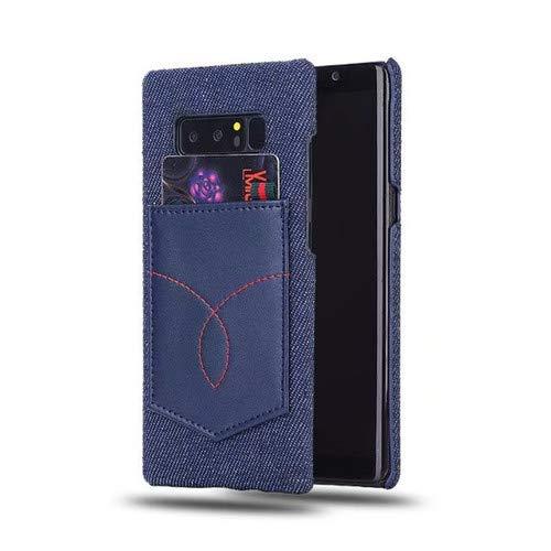 SEBAS Home Mode Denim Muster Samsung NOTE8 Rückentasche Karte Handy Shell Tuch halbe Packung N9550 Männer und Frauen Jugend Shell (Color : 1-NOTE8/N9550) - Frauen-packungen Tücher Und