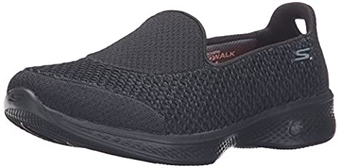 Skechers Go Walk 4 - Kindle, Damen Sneakers, Schwarz (Bbk),
