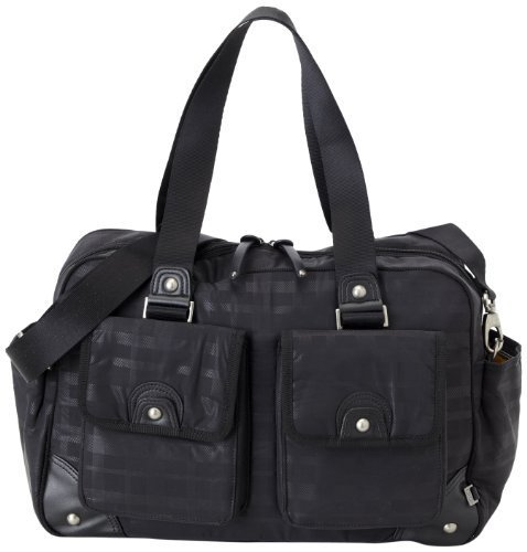 oioi-black-on-black-linear-carry-all-baby-changing-bag-with-nutmeg-lining-and-accessories-by-oioi