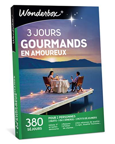 Wonderbox - Coffret cadeau couple - 3 JOURS GOURMANDS EN AMOUREUX - 380 séjours...