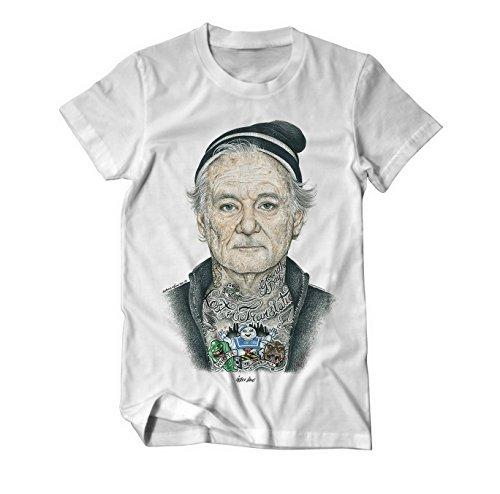 bill-fucking-murray-tatowiert-zeichnung-t-shirt-medium-weiss