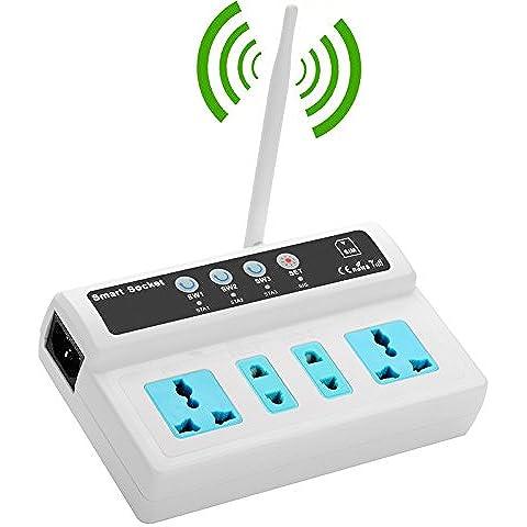 4porte Smart Switch GSM presa–110A 245V, 10A, interfaccia, Antenna GSM SIM, Sensore di temperatura–Spedizione dalla Cina, Hong Kong