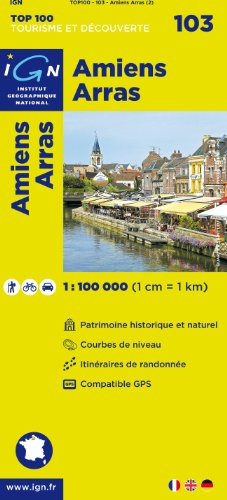 TOP100103 AMIENS/ARRAS 1/100.000