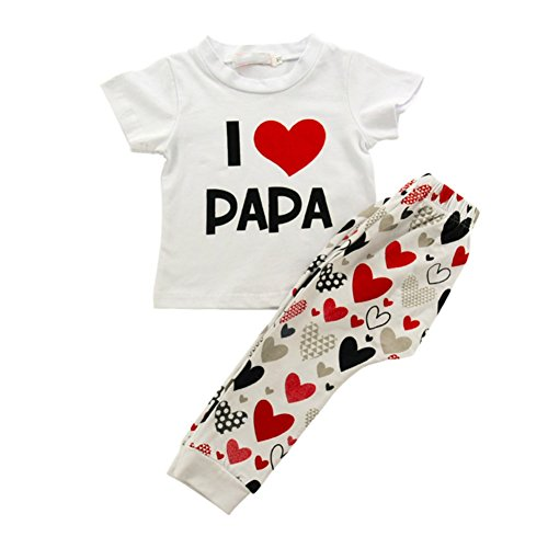 ruder Outfit Kleidung Frühling jungen Mädchen kurze T-shirt lange Hosen 2PCS Kleidung Set für 0-3 Jahre alt kleines Baby von Shiningup (Kleinkind Und Baby Passende Halloween-kostüme)