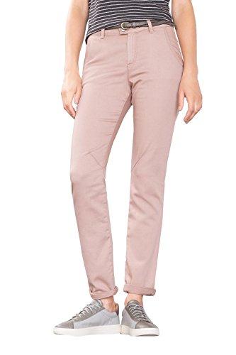 edc by ESPRIT 086CC1B003, Pantalones Mujer, Rosa (NUDE), W38/L32 (Talla del fabricante: 38/REG)