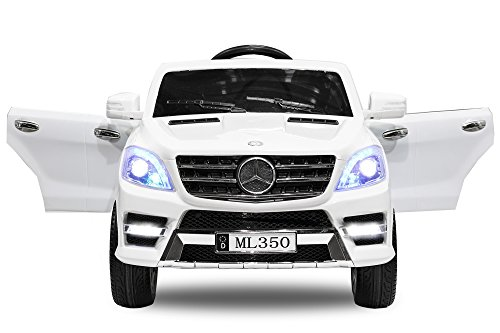Kinder Elektro Auto Mercedes Benz ML350 2x25W 12V Elektroauto Kinderfahrzeug Ferngesteuert Elektro ml 350 (Weiss)