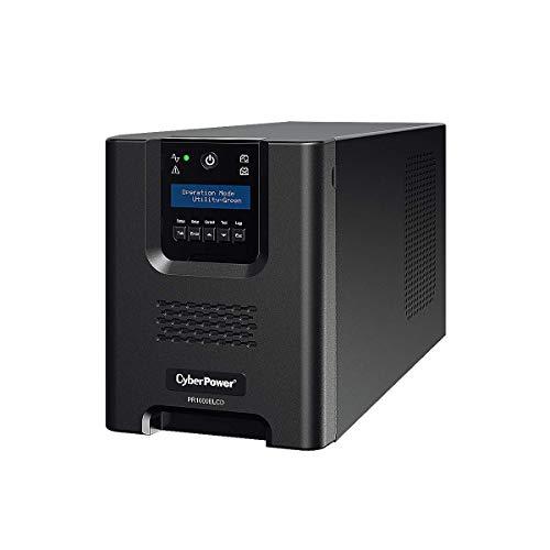 Cyberpower PR1000ELCD Line-Interactive Unterbrechungsfreie Stromversorgung (RJ-45, 12000mAh, 900 Watt, USB) - Batterien Cyberpower