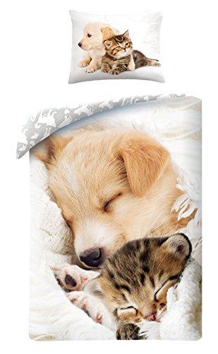Halantex Juegos De Fundas Edredón Gato Perro Durmiendo