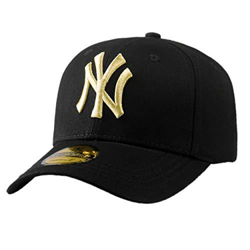 Imagen de lorenlli sombrero unisex de béisbol al aire libre del pato de la lengua del pato ny de nueva york  de béisbol envejecida teñida lavada del camionero lavado