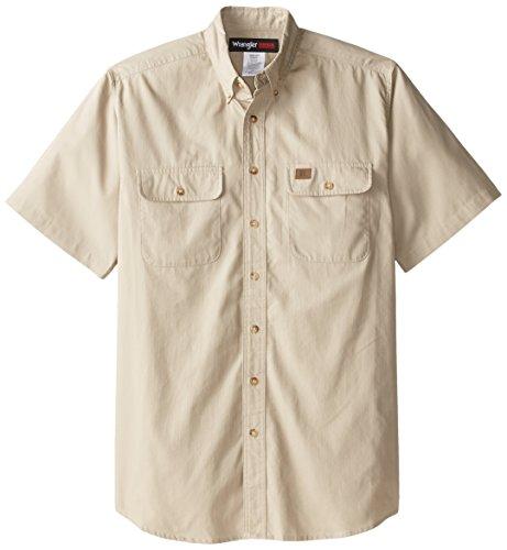 Wrangler Herren Arbeitshemd Riggs Workwear Ripstop - Beige - 3X Womens Lo Pro Button