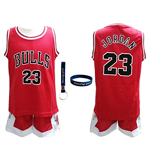 e80bef70301c35 Daoseng Chico Niño NBA Michael Jordan   23 Chicago Bulls Retro Pantalones  Cortos de Baloncesto Camisetas