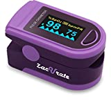Pro Series Deluxe 500D Finger Pulse Oximeter Blood Oxygen Saturation Monitor with Silicone