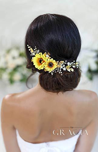 Simsly Bride Brautschmuck Brautschmuck Brautschmuck Silber oder Gold Stirnband Hochzeit Haarschmuck Kristall Brautschmuck für Frauen und Mädchen