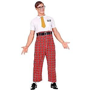 WIDMANN Disfraz de visón para hombre 07883, rojo/blanco, L