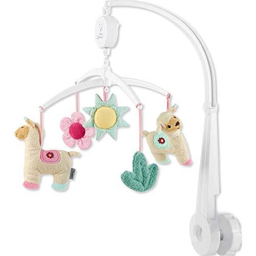 Sterntaler Mobile Kuschelzoo, Gestänge, Spielwerk, Mobile-Figuren, Alter: Für Babys ab der Geburt, Lama Lotte, mehrfarbig -