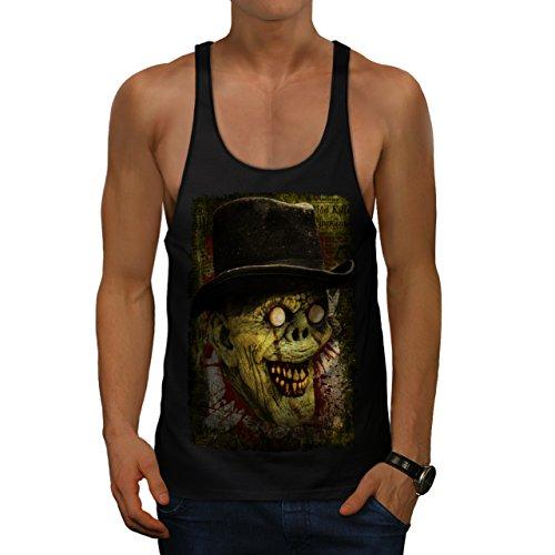 Gentleman Tot Mann Zombie Monster Hut Herren M Gym Muskelshirt | (Tag Maske Toten Gentleman Der)