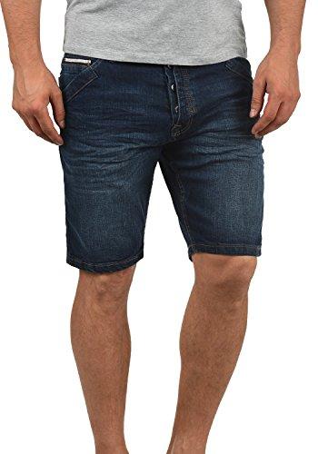 Indicode Alessio Herren Jeans Shorts Kurze Denim Hose Aus Stretch-Material Regular Fit, Größe:XL, Farbe:Dark Blue (855)