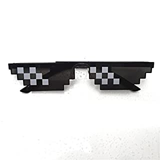 Zantec Männer Frauen Goggles Gläser 8 Bit MLG Pixelated Sonnenbrillen für Minecraft Spieler