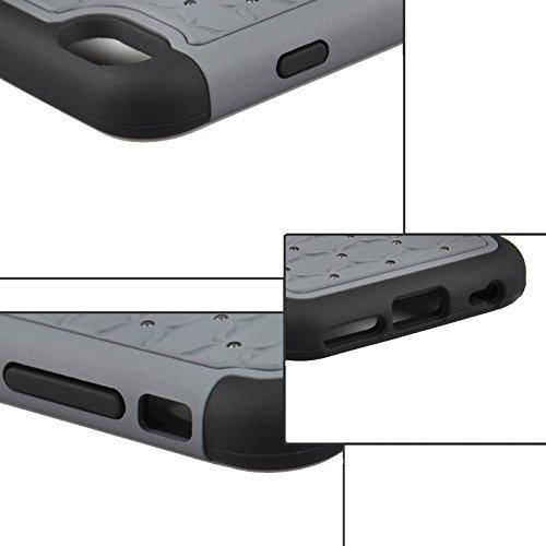 Phone case & Hülle Für IPhone 6 / 6S, Starry Pattern Silikon + Kunststoff Kombinationsetui ( Color : Black ) Grey