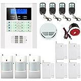 écran LED G/M² Home Systèmes d'alarme de sécurité pour Propriété Lave-vaisselle Protection 3Détecteur de mouvement 5porte Détecteur de mouvement 1détecteur de fumée