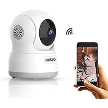 AOBO Cámara Wifi Vigilancia IP 720P HD P2P Pan/Tilt IR Visión Nocturna con Detectores de Movimiento Monitor bebé/Audio bidireccional y Altavoz Cámara Inalámbrica Seguridad Interior/Hogar con iPhone/Android/PC
