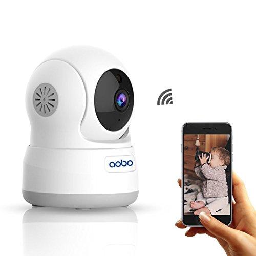 IP Kamera AOBO Wlan WiFi 720P Wireless IP Kamera heim überwachungskamera die bewegungserkennung alarm 2 Weg Audio IR Nachtsicht Nanny Baby Überwachung für Smartphone/PC Mini Sicherheitskamera (Pc-überwachung)