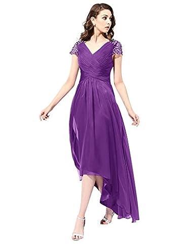 JYDress - Robe - Plissée - Femme - violet - 48