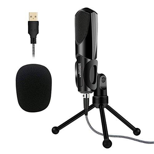 USB PC Mikrofon, ELEGIANT Kondensator Computer Mikrofon Gaming PC Studio Podcast Microphone Aufnahmen set Plug & Play Mit Ständer Für Skype, Schall, PC, Laptop, YouTube,Twitch , Studio-Aufnahmen usw. Kompatibel mit Windows Mac