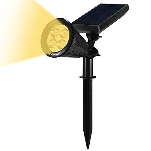 Praktische Garten (Solarleuchten led spotlight Gartenleuchte Wand Lampen Solar Betrieben Wasserdicht Beleuchtung für Landschaft Garten Fahrweg Pfad Hofen Rasen, Solar Energie Freiland Leuchten, Praktische Sichere Lampen)