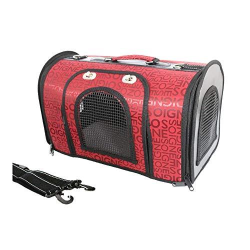 QISUX Zaino Astronaut Dog Cat Zaini for Cani, Portatile e Sicuro Pieghevole for Cuccioli di Gatto da Viaggio all'aperto 49x25x26cm (Color : Red)