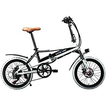 Cityboard Citybike Tourneo Bicicleta Eléctrica Plegable 20, Adultos Unisex, Negro