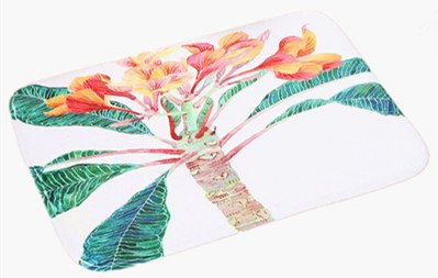 Momoland 23.6l x15.7w inch tappeti da bagno e tappeti in tessuto flanella christmas hd stampato tappetino antiscivolo plant-01
