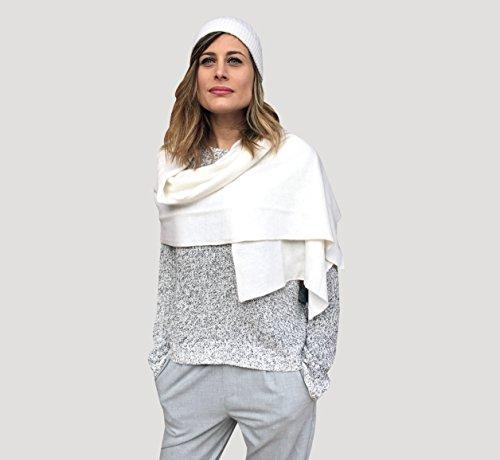 Schal für Damen in 100 % Kaschmir, Schal Kaschmir, Stole Kaschmir, Schultertuch Kaschmir, Stole Damen Eleganter Hut Kaschmir Hut Damen (Cashmere Glam)