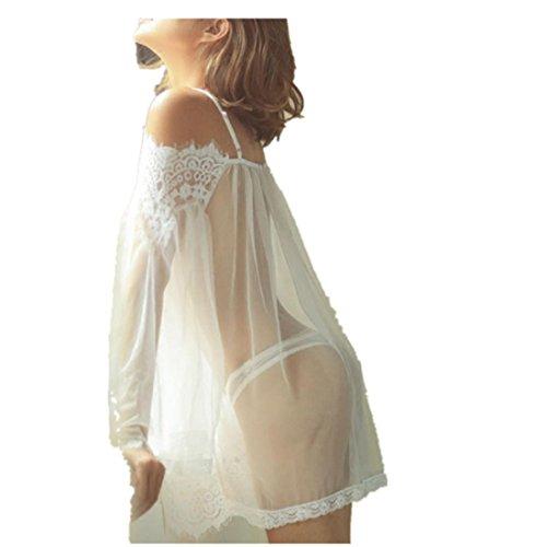 Damen Sexy Body Lace Spitze Nachthemd Unterwäsche, LUCKDE Frauen Slip Höschen Riemen Wäsche Hosen BH Lingerie Dessous Bekleidung (L2)