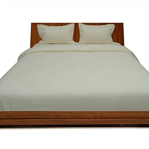 300TC 100% cotone egiziano Elegante Finitura 4pcs Duvet Set Lenzuolo massiccio (tasca dimensioni: 25cm), Cotone, (Harrison Bed Set)
