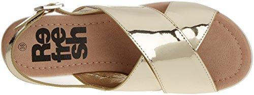 Refresh - 063318, Scarpe col tacco Donna Oro